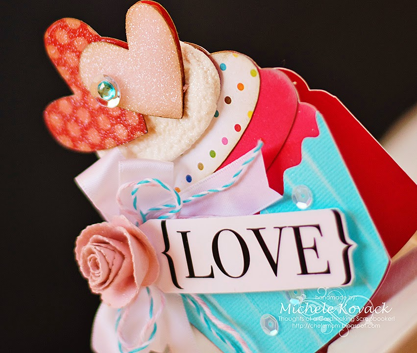 Silhouette cupcake Valentine card
