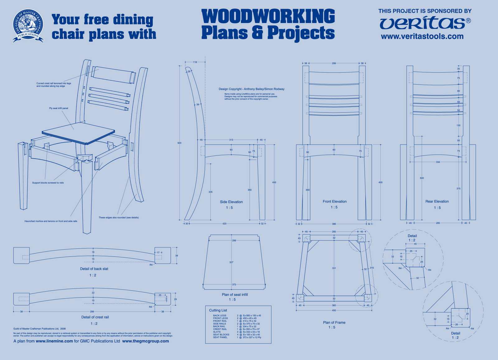 Wood working plans shed plans and more dining chair plan for Free dining chair plans