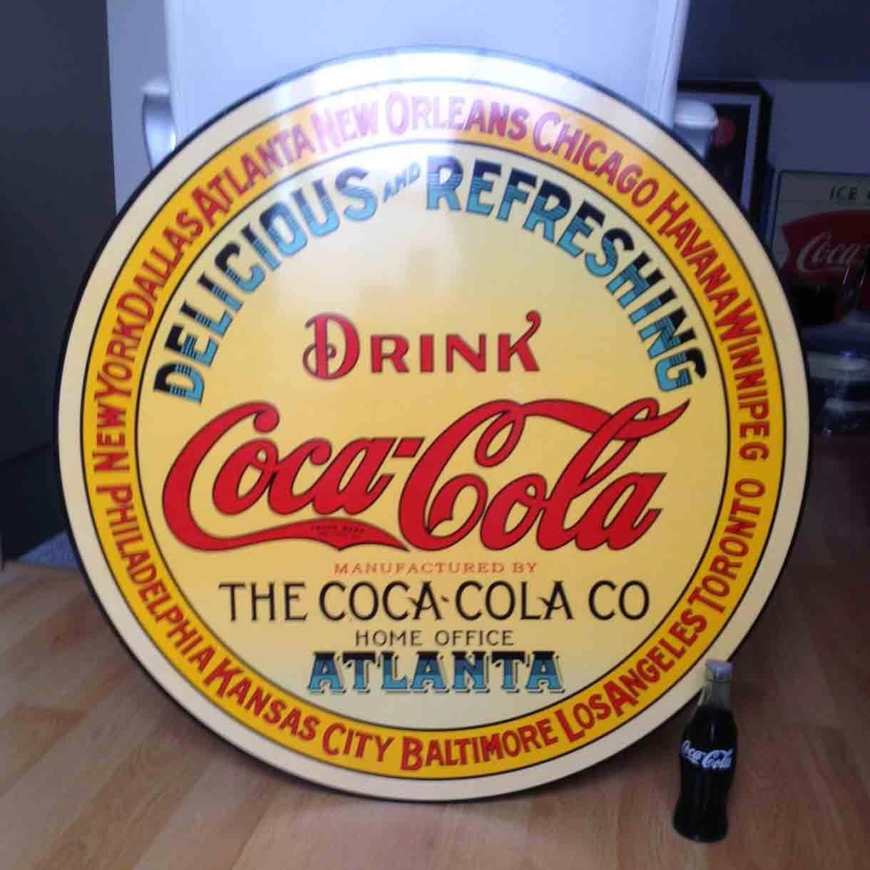Decoracion bares coca cola chapa coca cola cartel - Quitar oxido coca cola ...