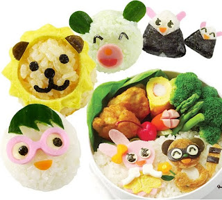 bento box adorable lunches food cutter decoration mold for bento rice ball kit ebay. Black Bedroom Furniture Sets. Home Design Ideas