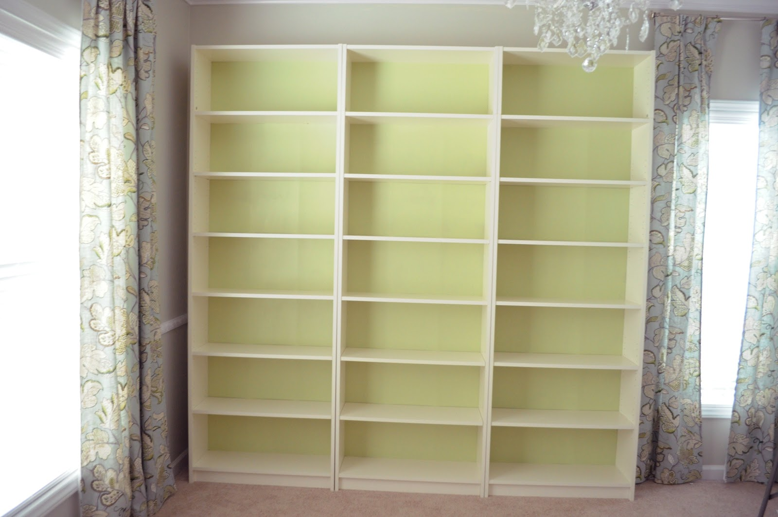 Billy Bookcases Without Custom Trim