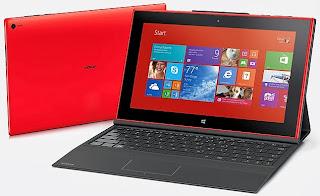 Gambar Tablet Nokia Lumia 2520 dengan keyboard cover