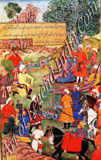 Khurau Shah Paying Homage to Babur at Doshi Near Kabul