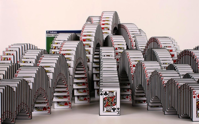 Solitaire Win Screen Sculpture