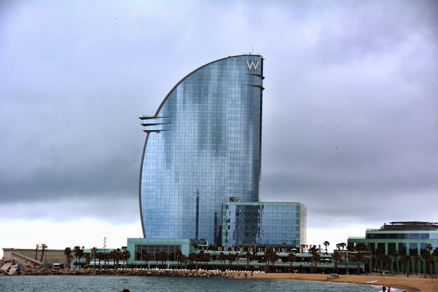 Modern buildings of Barcelona W-Hotel