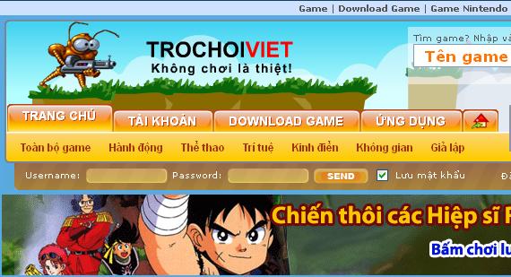 Tổng hợp toàn bộ game trên trang trochoiviet