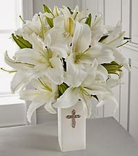 The faithful blessings bouquet by vase included