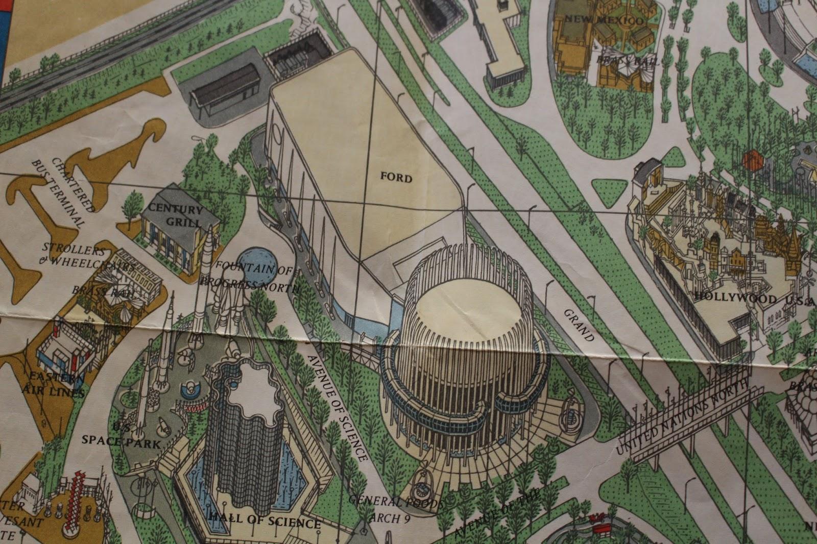 Manifesting the Magic: 1964 World\'s Fair Souvenir Map: Part 2