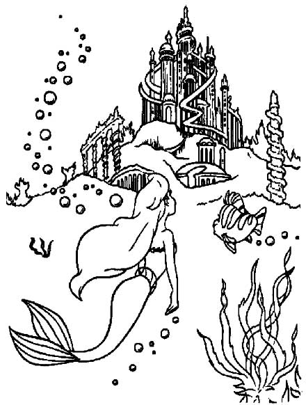 Coloring Pages Mermaids