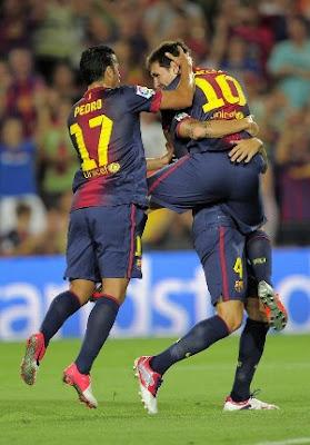 Messi lideró la primera victoria del Barcelona