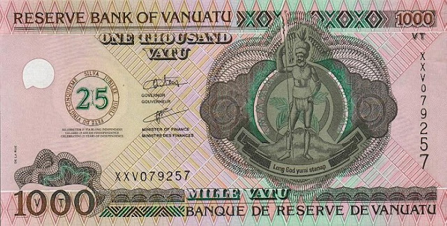 domestic currency of Vanuatu australia