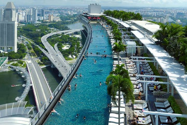 Eshowbiz marina bay sands singapore - Singapore marina bay sands infinity pool ...