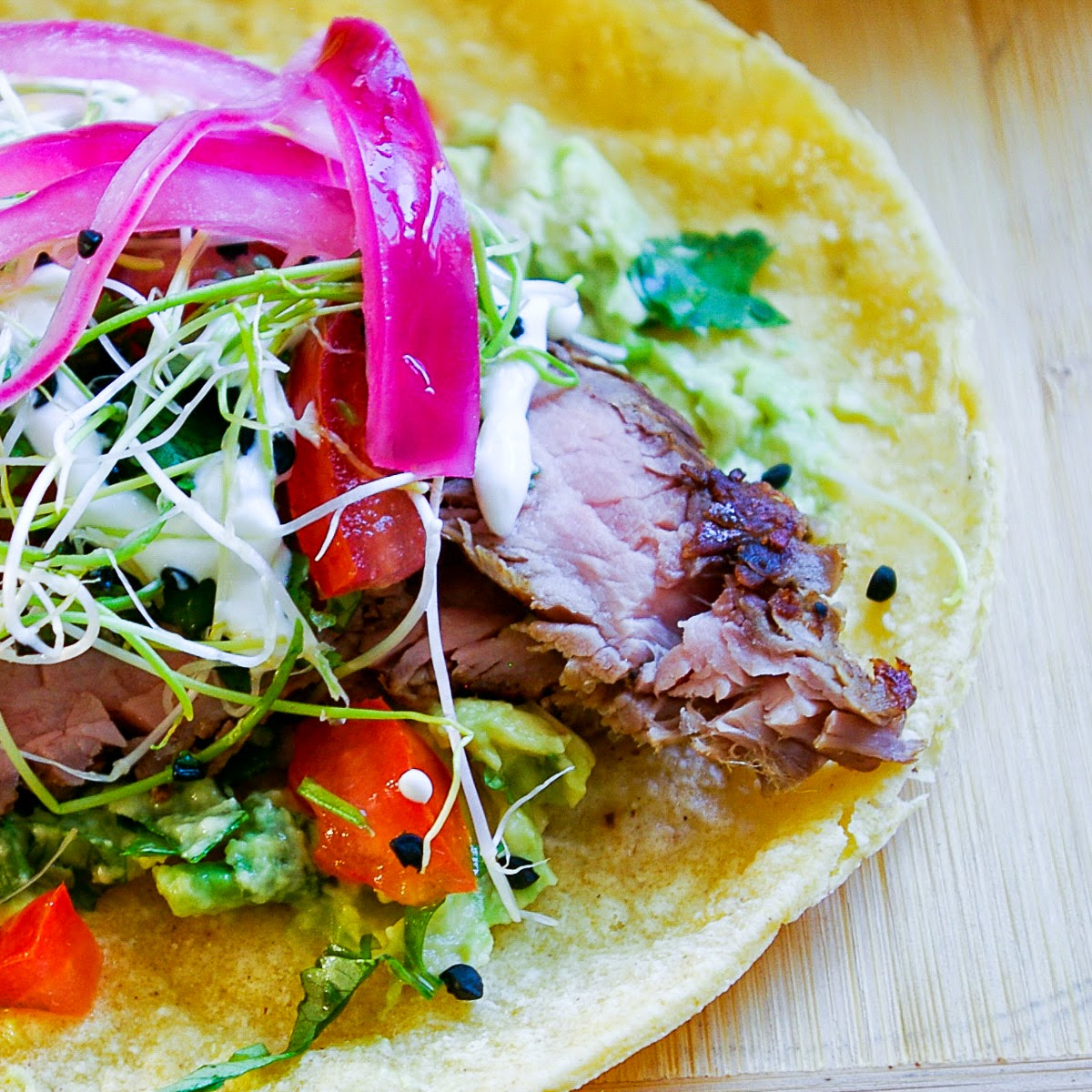 the yum yum factor sous vide flank steak tacos. Black Bedroom Furniture Sets. Home Design Ideas