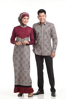 Sarimbit Gamis Batik Eksklusif Dunhill Contoh Model Baju Batik Lebaran Terbaru