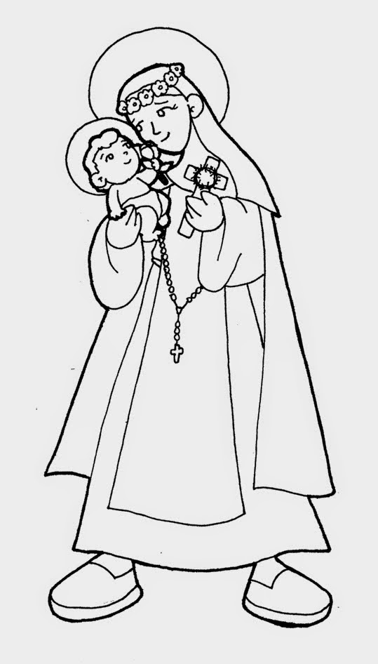 imagenes para colorear santa: