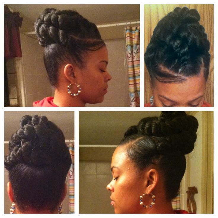 Jumbo Twist Braids Hairstyles Jumbo Braid Twist Updo Jumbo Yarn Twist