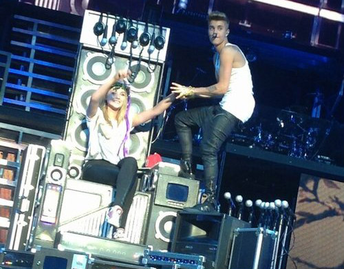 Justin Bieber performed in Dublin Arena- Ireland
