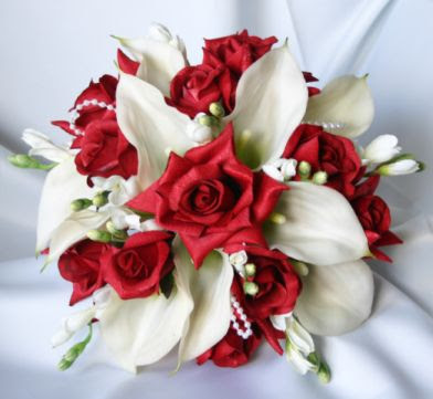 Red And White Wedding Flowers Wedding Flowers Designs Bridal Bouquets Picture