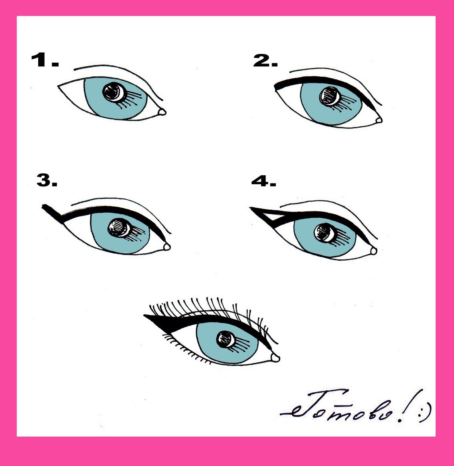 Как правильно нарисовать стрелки на глазах жидкой подводкой фото пошагово в