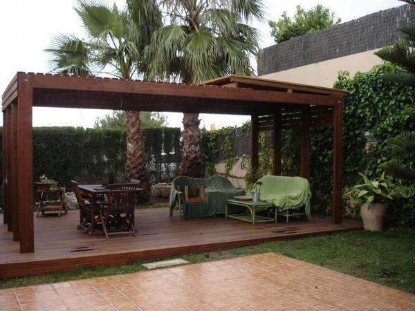 Complementos casa y jard n p rgolas de madera - Pergolas para jardines pequenos ...