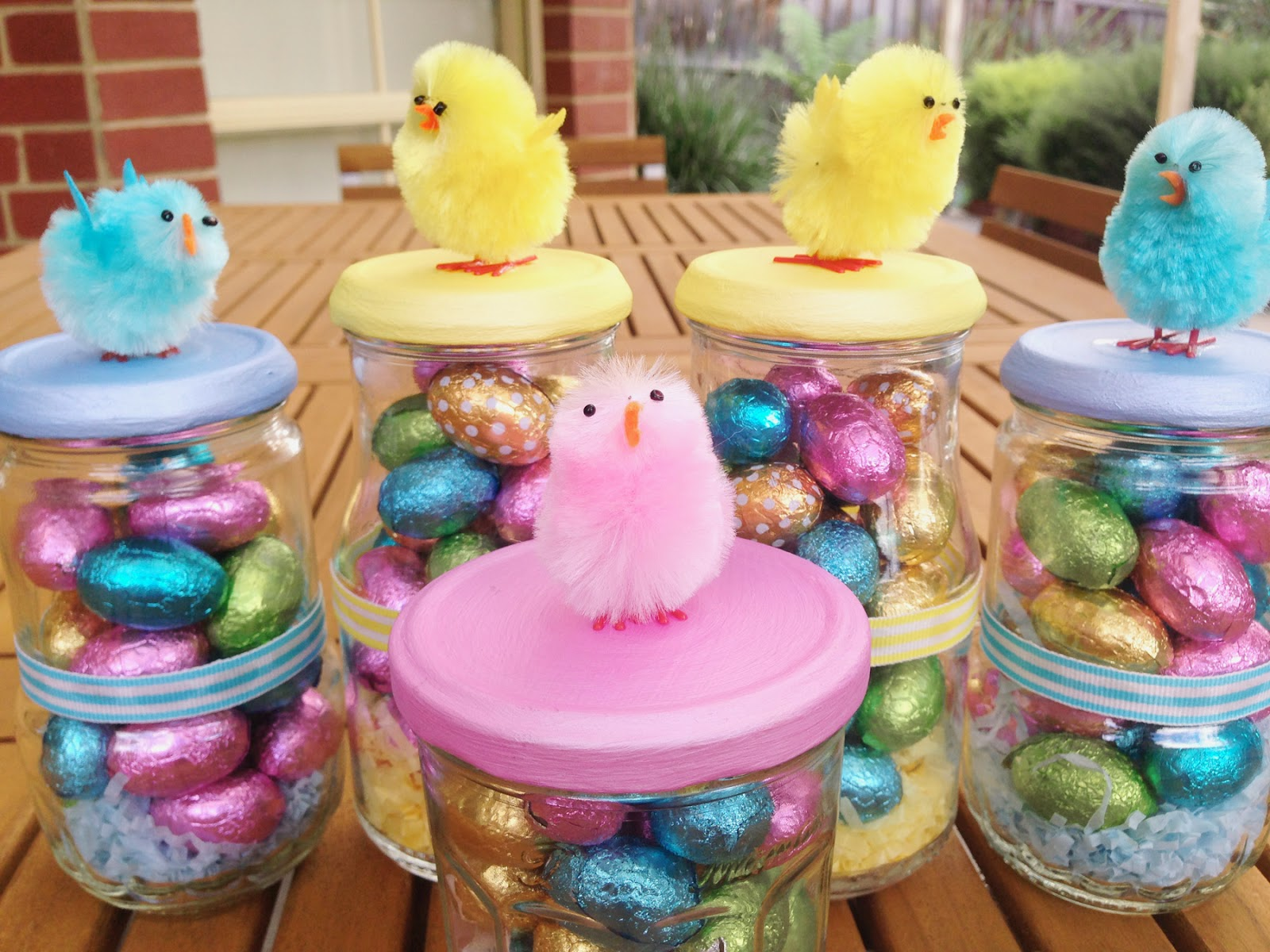 Cookie crumbles cute easter gifts i got the idea for these cute little jars from this post on pinterest i think they are perfect for gifts at easter time and fairly easy too negle Choice Image