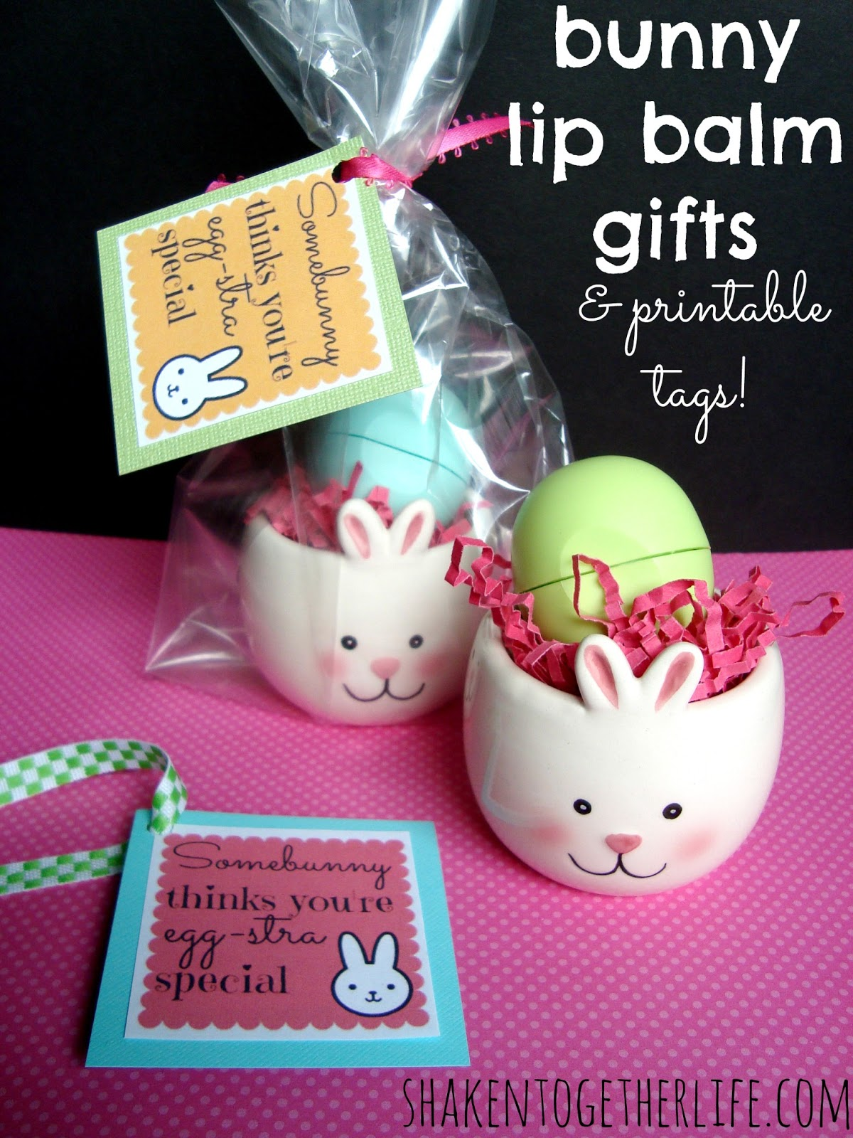 Bunny lip balm gifts for easter printable tags negle Image collections