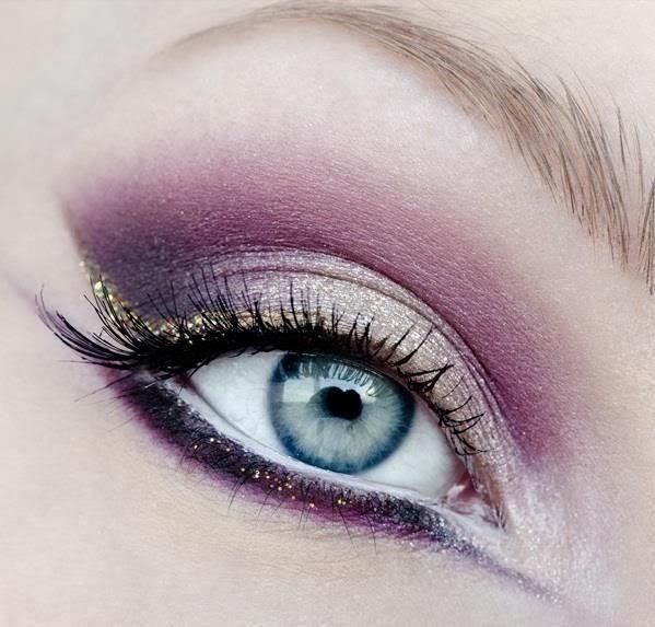 couleur maquillage fard a paupières et contour des yeux rose pour des yeux bleu