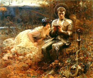 The Temptation of Sir Percival - Arthur Hacker -1894