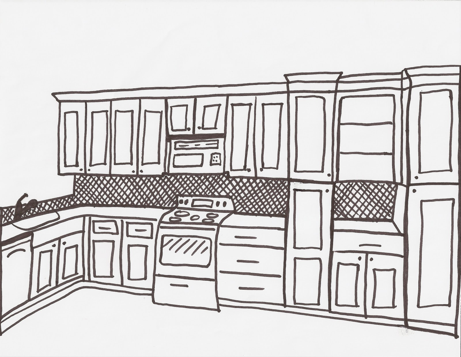 Kitchen perspective drawing - Draw My Kitchen Acanthus And Acorn Tour Of Client S Kitchen Renovation