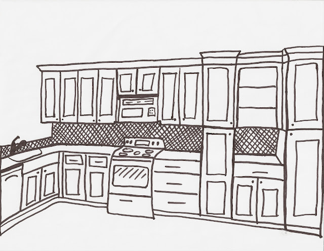 Acanthus and acorn tour of client 39 s kitchen renovation for Kitchen designs drawing