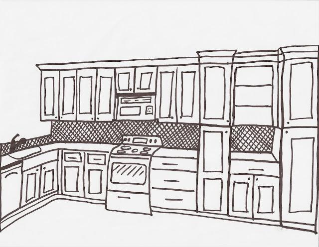 Next screenshot. . KitchenDraw 4.5 : Simulated constructed kitchen.