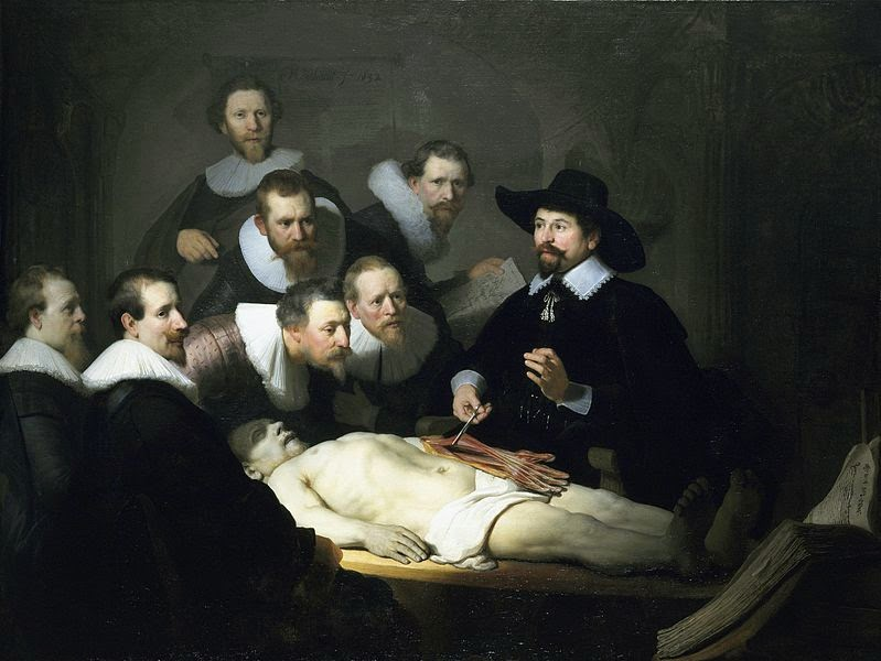 rembrandt anatomy lesson 5 painting
