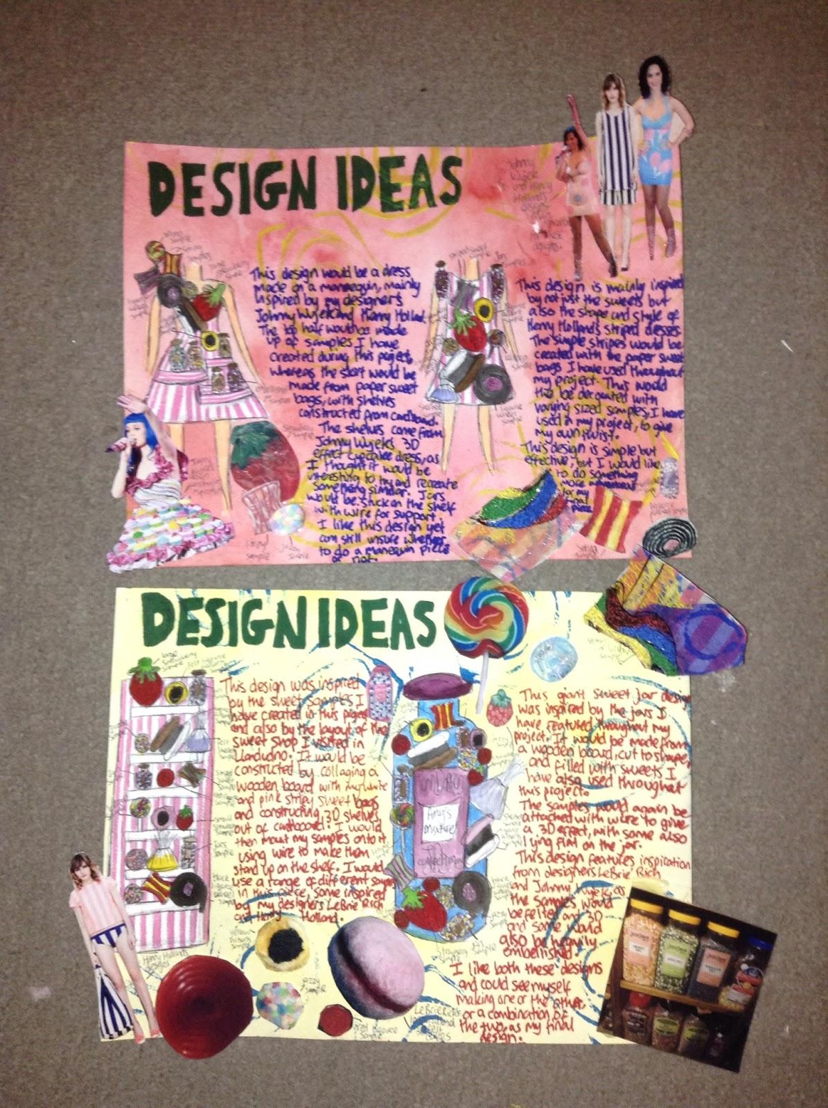 Amy Jones Textile Design Initial Design Ideas