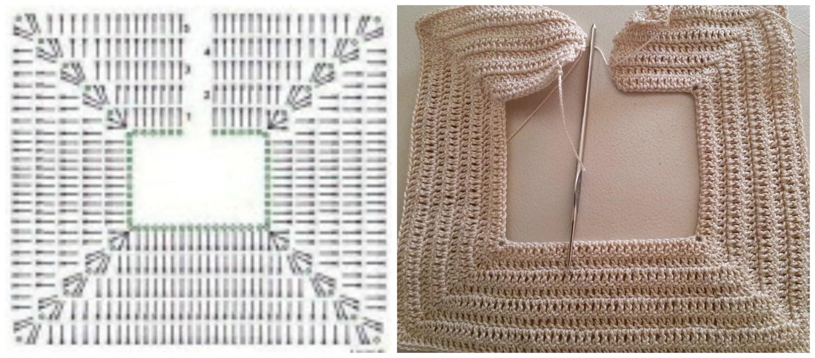 patron vestido recien nacido crochet