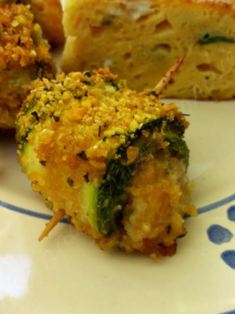 rotolini di zucchine ai cornflakes