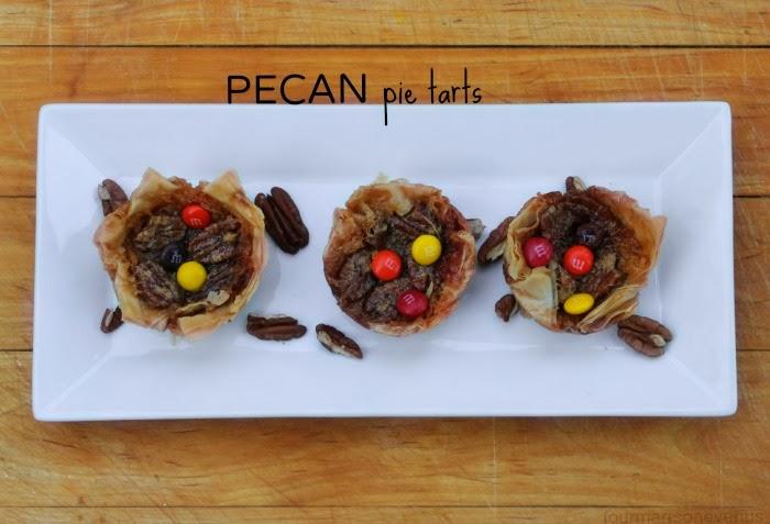 Pecan pie tarts with m&ms #shop