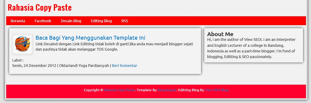 Share Template Seo Friendly, Template SEO Friendly Cardboard Style, Template Sederhana yang SEO Friendly dan Fast Load, Template SEO Friendly Valid HTML5, Template HTML5, Template Super SEO