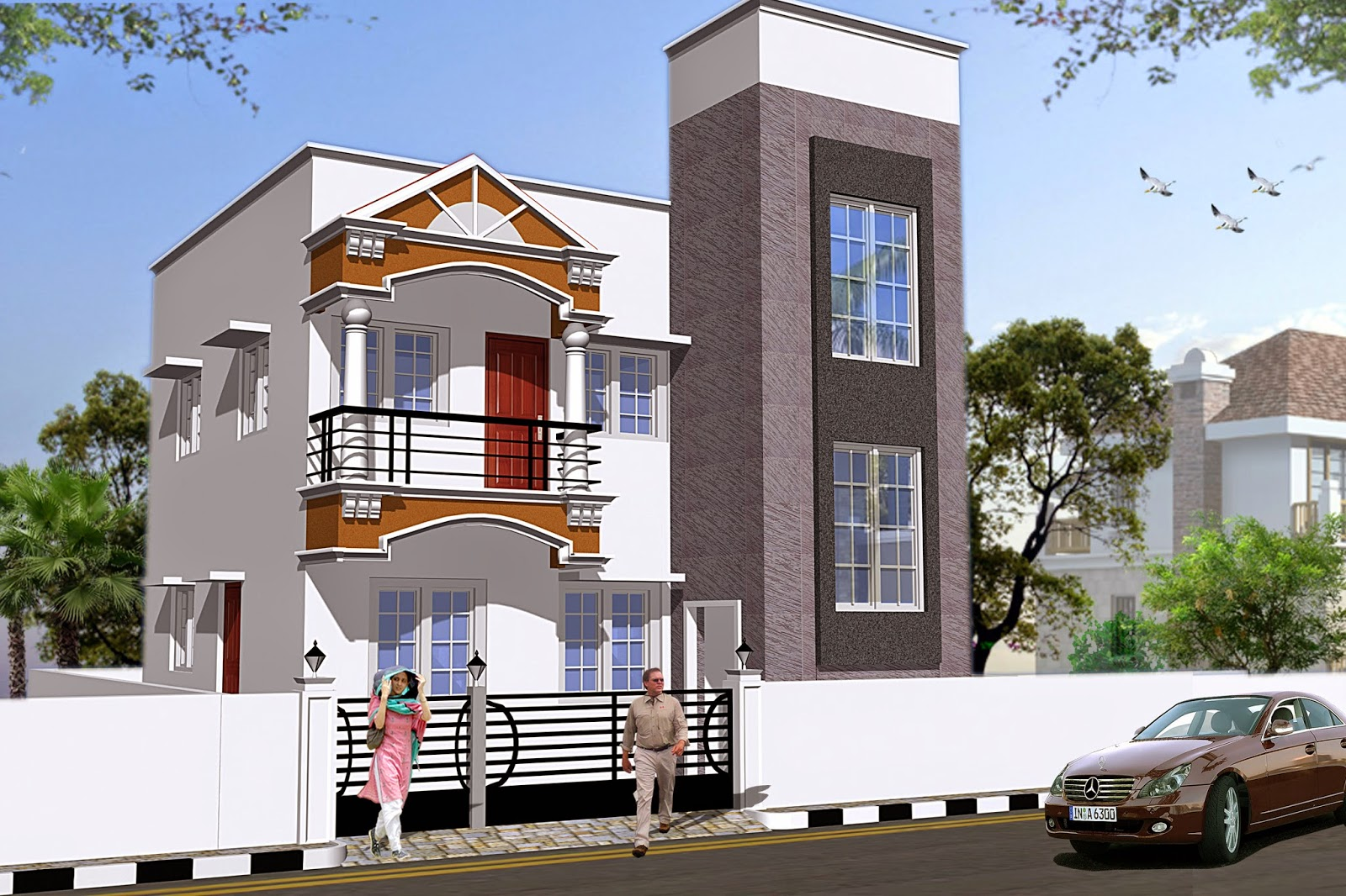 3d home view apartment elevation delhi elevation 3d house building