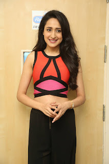 Pragya Jaiswal in Spicy Short top and Black Trousers Beautiful Pics
