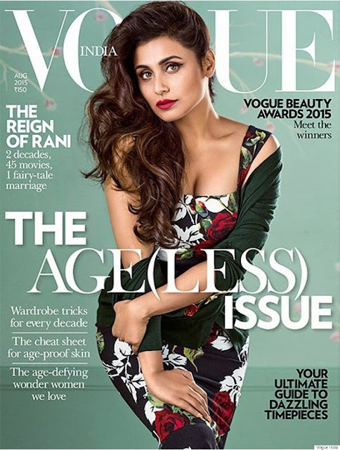 Actress @ Rani Mukerji - Vogue India, August 2015