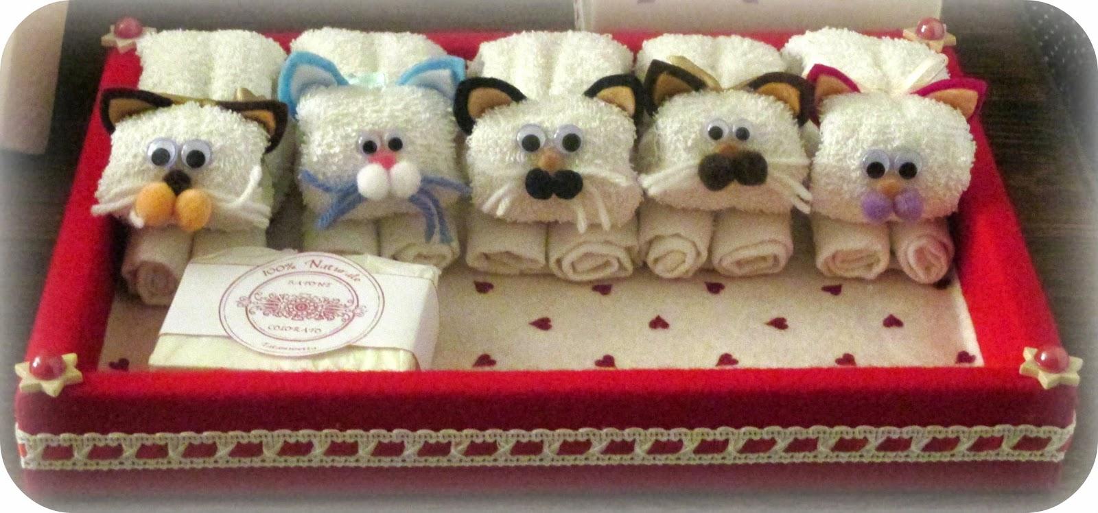 Tatamusetta animali con le lavette for Animali con asciugamani