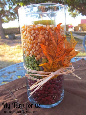Easy Fall Candle vase decor