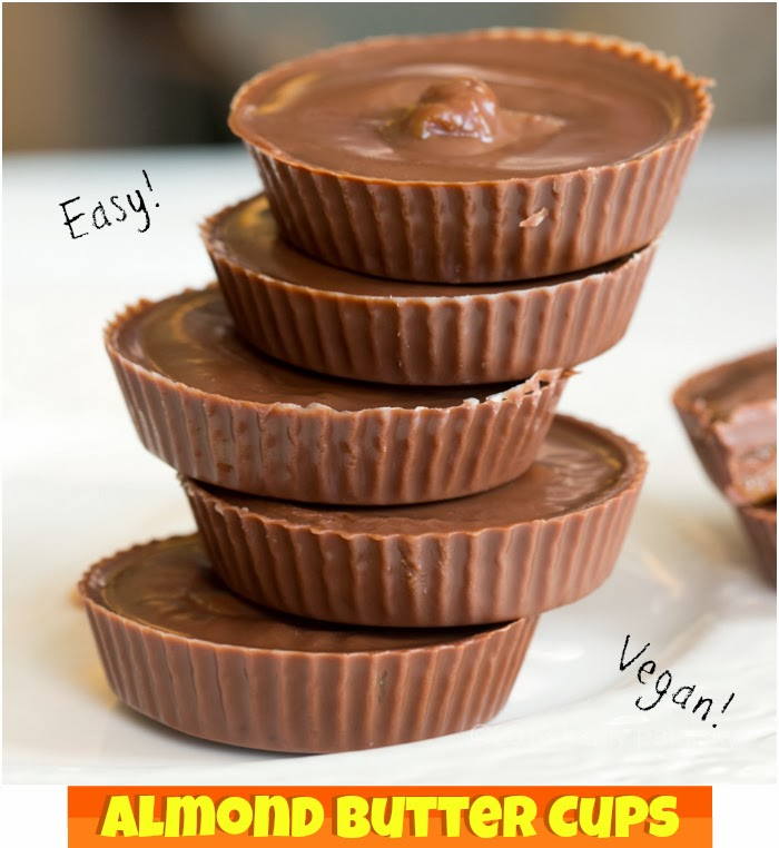 Easy Vegan Almond Butter Cups!