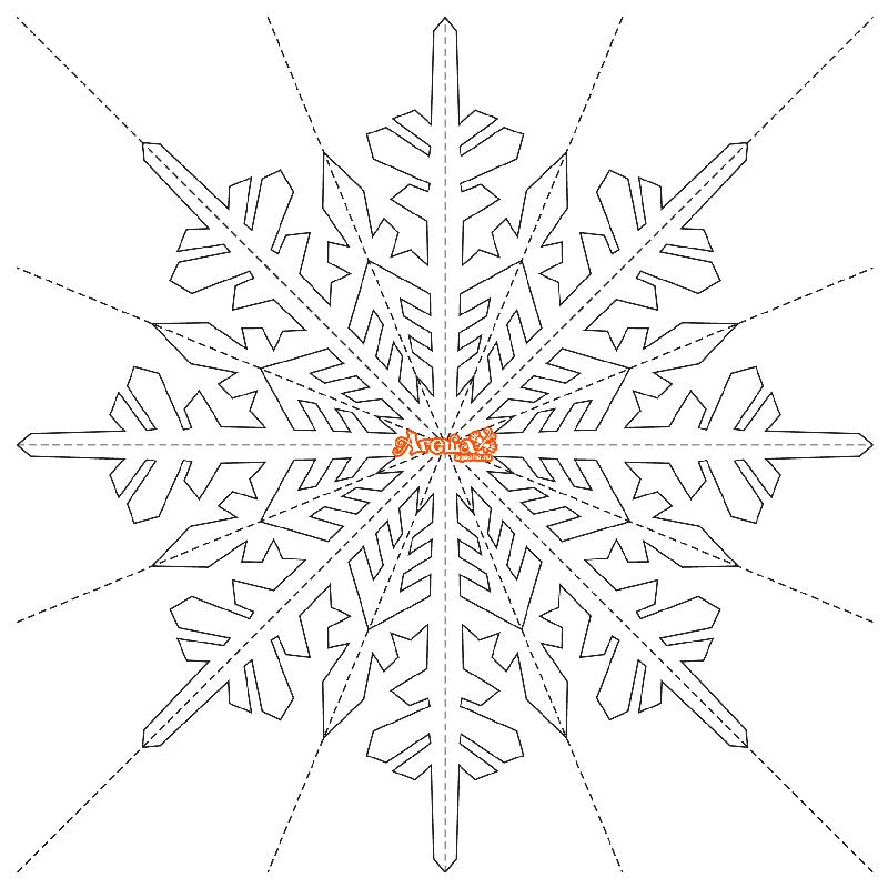 вырезание из бумаги снежинок шаблоны