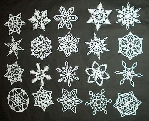 Copos de nieve de papel (personalizados)