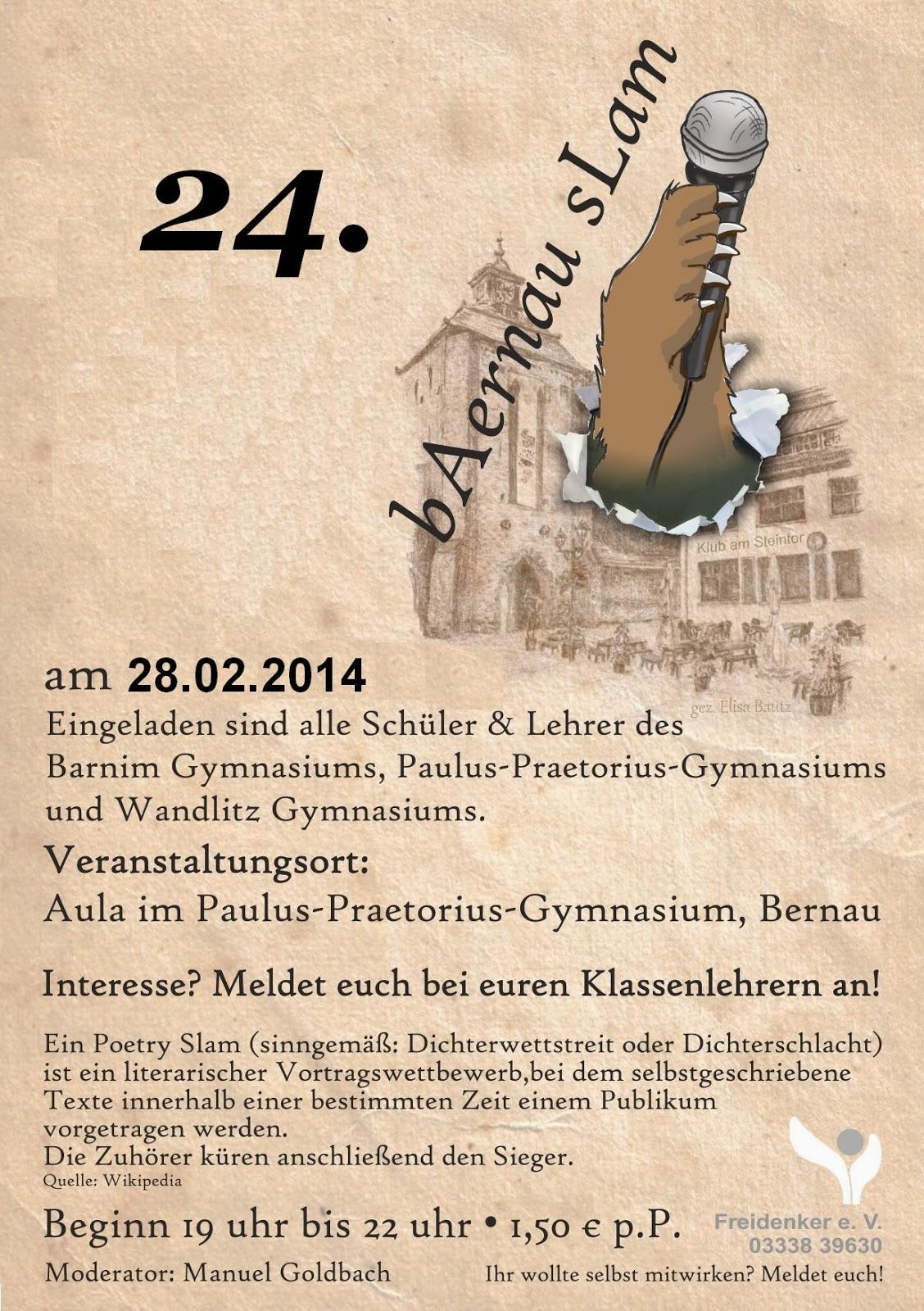 Flyer baernauslam A4 Aushang2014