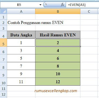 contoh data rumus EVEN