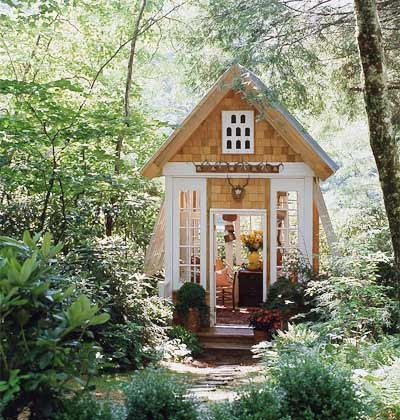 Old things new garden houses - Sheds for small spaces property ...