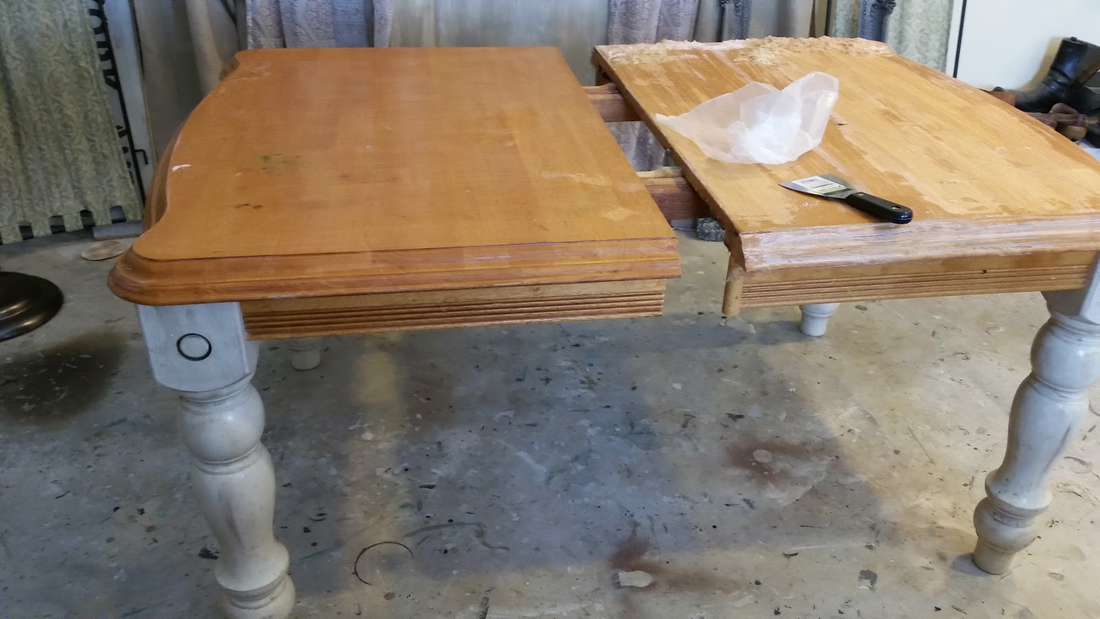 The Painted Table Boutique: How to Strip and Stain a Wood Table Top ...