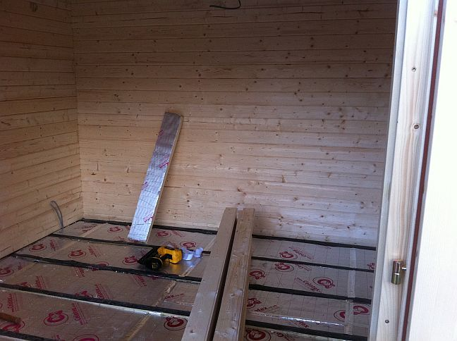 Cheltenham Log Cabin Installed In Dollar Central Scotland